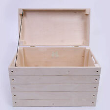 Wooden,chest, trunk, toy,chest,keepsake,blanket storage box natural wood PK360S
