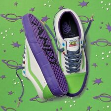 Toy Story Buzz Lightyear X Vans Skate Shoes Tg UK 8.5 Limited Edition NUOVO con scatola