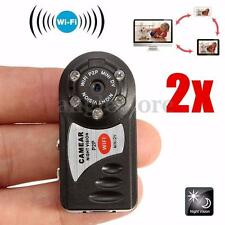 2Pcs Mini Portable P2P WiFi IP Camera HD DV Hidden Spy Camera IR Night Vision