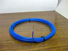 10 feet 18 AWG Silver Plated PTFE Wire Blue Solid 1 Strand