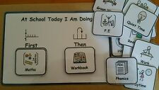 First/Then Sequencing & 40 Symbols School Pack Visual Aid for Autism/ADHD/SEN