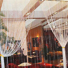 Iridescent Wedding Party Favor Acrylic Crystal Beads Strands Tree Curtain 99ft