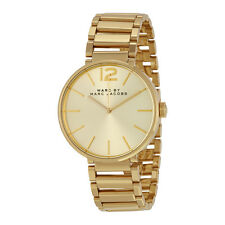 Marc By Marc Jacobs Peggy Gold-Tone Sunray Dial Ladies Watch MBM3401