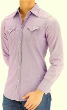 DSQUARED2 Cotton VINTAGE Chambray WESTERN Distress SHIRT Made in Italy $530