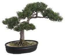 "16"" ARTIFICIAL CEDAR BONSAI IN PLASTIC POT"