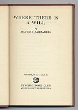Where There is a Will Barbanell 1952 Spiritualism Medium Trance Control Mental