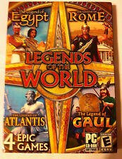 NEW-LEGENDS OF THE WORLD - PC - 4 GAMES -  Egypt, Rome, Atlantis, Gaul
