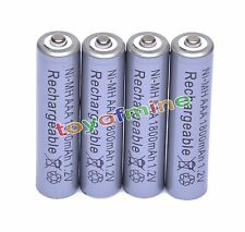 4x 1.2V 1800mAh 3A AAA Ni-MH Rechargeable Battery Cell Grey For RC Toys MP3
