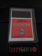 King of Casino TurboGrafx-16 HuCard w/ card and sleeve! Free Shipping!