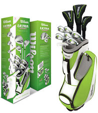 Wilson Ultra Women's Ladies Right Handed RH Complete Golf Club Set w/ Cart Bag