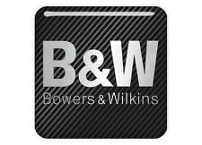 "Bowers & Wilkins 1""x1"" Chrome Domed Case Badge / Sticker Logo"