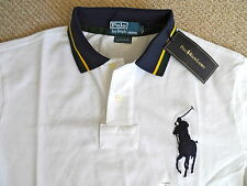 "Gros 42-44"" genuine polo by ralph lauren blanc/bleu marine chemise jersey homme tags"