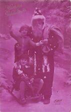 B86321 santa with children on sledge  santa claus father christmas papa noel