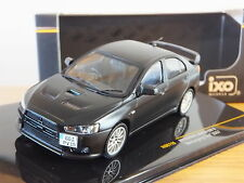 IXO MITSUBISHI LANCER EVO X NURBURGRING TEST 2007 BLACK CAR MODEL MOC115 1:43