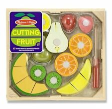 Melissa and Doug Cutting Fruit Play FOOD SET, Wooden Kids Play KITCHEN SET