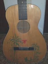 1930's Supertone Model 250 Parlor Guitar Hawaiian Stencil VG condition Harmony