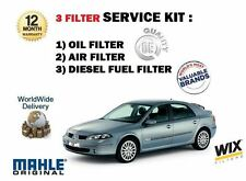 FOR RENAULT LAGUNA 2.0 DCi  150BHP 2005-9/2007 OIL AIR FUEL  FILTER SERVICE KIT