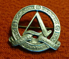 Irish Sterling Silver Badge / Brooch - Alexandra School Dublin 1940