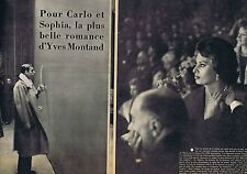 Coupure de presse Clipping 1958 Sophia Loren & Yves Montand (2 pages)
