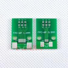 5pcs FFC/FPC 6 Pin 1mm 0.5mm to DIP Adapter PCB Board Converter Double Side F82
