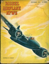 MODEL AIRPLANE NEWS Magazine September 1945 Grumman F7F Tigercat cover