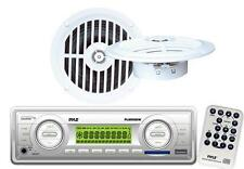 White PLMR88W Marine Boat AM FM MP3 AUX USB SD Radio Receiver + Speakers Package