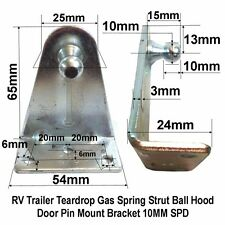Lot 4PC RV Trailer Teardrop Gas Spring Strut Ball Hood Door Pin Bracket 10mm SPD