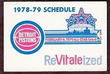 1978-79 DETROIT PISTONS EASTERN AIRLINES NBA BASKETBALL POCKET SCHEDULE