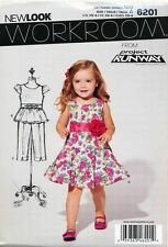 NEW LOOK SEWING PATTERN 6201 TODDLERS/GIRLS SZ ½-4 TIERED DRESS, TOP CAPRI PANTS