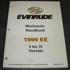 Werkstatthandbuch Johnson Boot Motor 5 bis 15 PS Viertakt Evinrude Stand 1999!