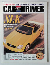CAR DRIVER AUTOMOTIVE MAGAZINE 1997 JANUARY MERCEDES SLK FERRARI F50
