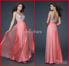 2013 Top selling sexy Empire Prom Dress Beaded Strap Chiffon lady - Size 10