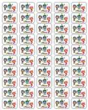 """50 Team Umizoomi Envelope Seals / Labels / Stickers, 1"""" by 1.5"""""""