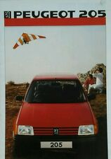 Peugeot 205 Sales Brochure - September 1985