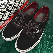 Vintage Vans Era Black Tibetan Red Shoes 11 Punk Skate Lightly Worn Vegan NDS