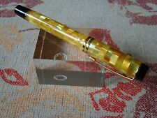 Parker Duofold Centennial Check Yellow Rollerball Pen UNUSED