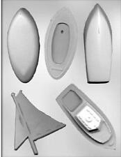 3D Boat Assortment Chocolate Candy Mold from CK 15367 - NEW