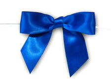 12 Satin Pre-Tied Ribbons Bows Gift Wrap Cello Bags Ties Holiday Crafts Weddings
