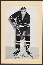 1945-64 Beehive Group II 2 Hockey Paul Ronty New York Rangers High Grade