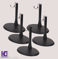 """5 x U Type Metal Display Stand for 1/6 hot toys star wars phicen 12"""" figure body"""