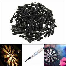 100PCS DARTS SOFT TIPS POINT REPLACEMENT BLACK 27MM THREAD GAME NEW PACK SALES