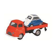 Schuco 452623000 Hanomag Kurier with BMW Isetta red model car Maßstab 1:87 NEW!°