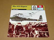 MESSERSCHMITT Me 323 GIGANT 1941-1944 LUFTWAFFE AVIATION FICHE WW2 39-45