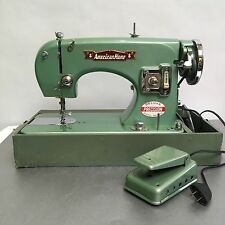 Rare American Home Green Mid Century Vintage Solid Metal Sewing Machine