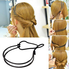 Fashion Women Double Layer Adjustable Head Hair Hoop Elastic Hair Rope Hair Band