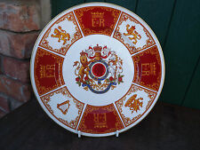 1977 Silver Jubilee of Queen large Caverswall China Plate Limited Edition