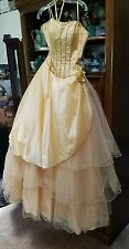 Mori Lee Beaded Silk Formal Quinceanera Dress Ball Gown Prom Pageant cruise  5/6