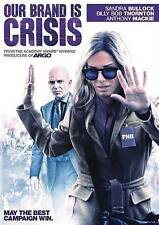 OUR BRAND IS CRISIS 2016 dvd Political Comedy SANDRA BULLOCK Anthony Mackie Ln