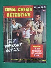 Vintage REAL CRIME DETECTIVE July 1956 FLORIDA'S BOY-CRAZY GUN GIRL