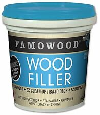 FamoWood 40022134 Latex Wood Filler - Pint, Red Oak